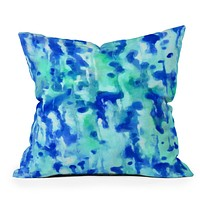 Rosie Brown Blue On Blue Throw Pillow
