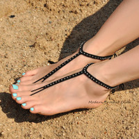 NEW Simple Shiny Barefoot Sandals,beach wedding accessories,goth foot jewelry,nude shoes,bridesmaids gift,beach shoes,barefoot sandles
