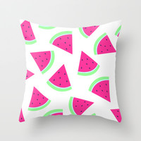 watermelon frenzy Throw Pillow by cartoon pizza | Society6