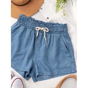 In Plain View Shorts | Denim