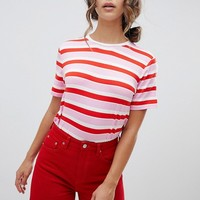 Warehouse Rainbow Stripe T-Shirt at asos.com