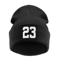 """Sports Hat Cap trendy  High Quality Winter Beanie Hats """"23"""" BULLS SPORTS For Women / Men Knitted Hat Cap with Letter Hat Gorros Toucas MA21 KO_16_1"""