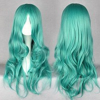 65cm long Pretty Soldiers Sailor Michiru synthetic heat resistant fiber long pink wig,Colorful Candy Colored synthetic Hair Extension Hair piece 1pc WIG-209A