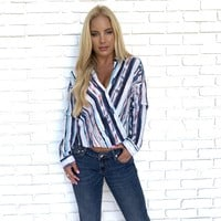 Refined Visionary Stripe Blouse
