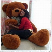cute 63'' BIG PLUSH dark brown TEDDY BEAR HUGE STUFFED SOFT TOY BIRTHDAY GIFTS