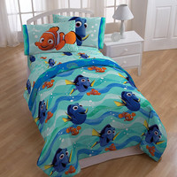"""Disney Finding Dory """"Splashy"""" Soft Comforter with Bed Sheets 4 Piece Set - Twin"""