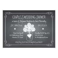 Chalkboard Mason Jar Rustic Couples Wedding Shower Card
