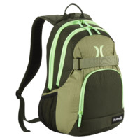 Hurley Honor Roll Solid Blocked Backpack (Green)
