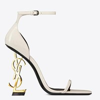 YSL Women Fashion New Letter Heel High Heels Personality Shoes