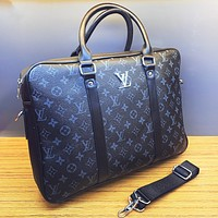 LV Louis Vuitton New fashion monogram tartan leather couple shoulder bag handbag crossbody bag briefcase