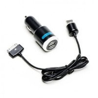 Skiva PowerFlow 2.1Amp / 10Watt (Fast) Car Charger (Now with Improved Cable) for new iPad, iPhone 4S 4 3GS, iPad 2, iPad 3, iPhone, iPad, & iPod