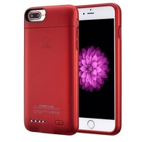 Iphone 7 Plus / 6 Plus / 6s Plus Battery Case Ultra Thin Extended Rechargeable Iphone 7plus / 6 Plus / 6s Plus Case Battery With 4200mah Capacity From Sunwell (5.5?¡À Red)