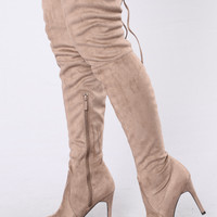 Pump Up The Jam Boot - Taupe