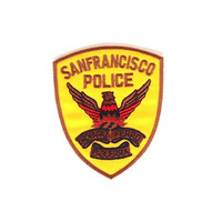 San Francisco Police Embroidered Iron on Patch Size 6.8  x  8 cm