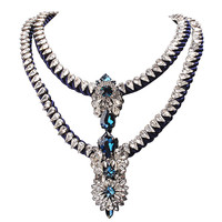 Charm Apolonia Cluster Deep Blue Rope Design Party Jewellery