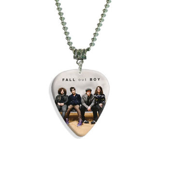 FALL OUT BOY Guitar Pick Plectrum NECKLACE Collection C