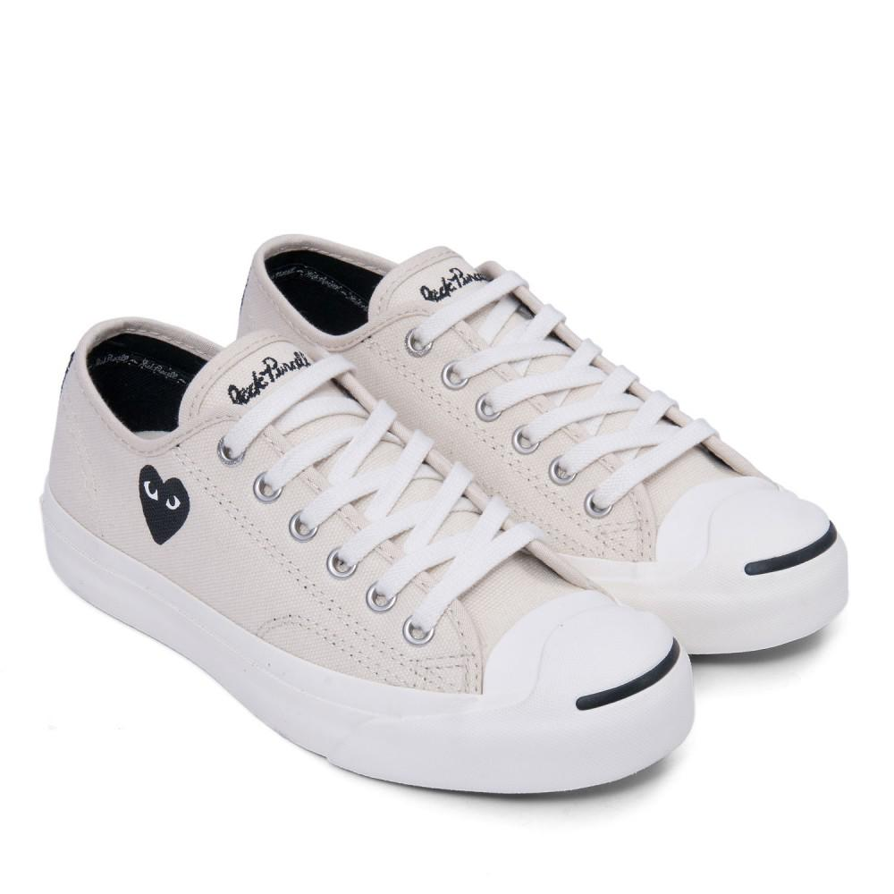 CDG PLAY x Converse Jack Purcell (White