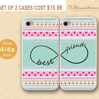 Best friends, infinity wish and Aztec iPhone 4 Case, iPhone 4s Case, iPhone 4 Hard Plastic Case,Personalized iPhone Case,water proof