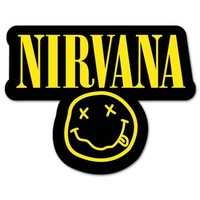 NIRVANA smiley rock band Vynil Car Sticker Decal - 3""