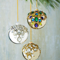 Bejeweled Ball Christmas Ornaments