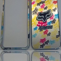 Fox Racing Fun Colors & Little Foxes iPhone 5 (All Carriers) Rigid Faceplate Cell Protector Case Housing Cover Snap On NEW !!