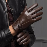 Real Leather Touched Screen Gloves