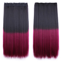 Anime Cosplay Wig Gradient Ramp 5 Cards Hair Extension   2TM118L#