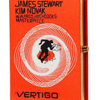 Olympia Le-Tan Vertigo Movie Poster Clutch Bag, Orange