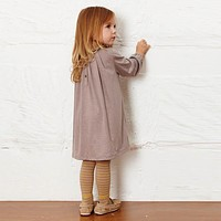 Toddler Baby Autumn Long Sleeve Korean Clothes Causal Girls Dress Floral Collar Kids Cotton Dresses Children Clothing