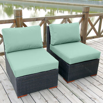 Coral Gables 2 Armless Chairs Patio Set Multiple Colors