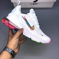Nike Air Max 270 breathable atmospheric cushion men and women casual sports function running shoes