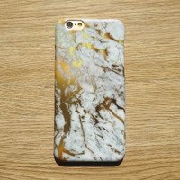 Gold Marble Stone Case for iPhone 7 7Plus & iPhone se 5s 6 6 Plus Best Protection Cover +Gift Box-95