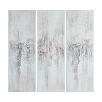 Impressions Abstract Hand Painted Artwork - Set of 3 by Uttermost