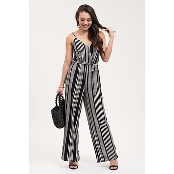 Striped And Ready Jumpsuit