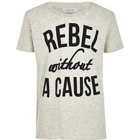 River Island Boys grey rebel without a cause print t-shirt