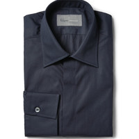 Kilgour - Navy Cotton-Poplin Shirt | MR PORTER