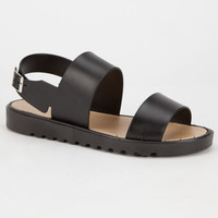 Bamboo Putter 2 Womens Sandals Black  In Sizes