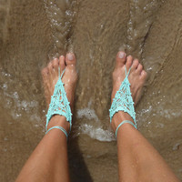 Barefoot Crochet Sandals Pattern PDF summer accessories by bysol