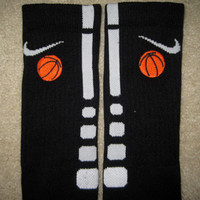 SPORTS BASKETBALL Custom Nike Elite Socks Black by ParsonsPlace4