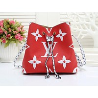 LV hot selling lady's casual shopping bag fashion printed patchwork color shoulder bag #1