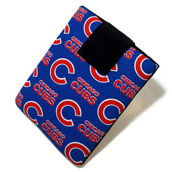 Tablet Case, iPad Cover, Chicago Cubs, MLB, Baseball, Kindle Fire Cover, 7, 8, 9, 10 inch Tablet Sleeve, Cozy, Handmade, FOAM Padding
