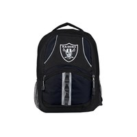 Oakland Raiders Backpack Captain Style Black and Black
