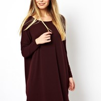 ASOS T-Shirt Dress In Nepi With Long Sleeve