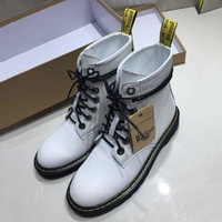 Dr.martens Women Fashion Casual Low Heeled Shoes Boots 4