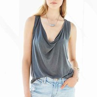 Truly Madly Deeply Cowl-Neck Tucked Tank