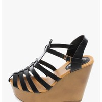 Black On The Go Woven Platform Wedge Sandal | $12.50 | Cheap Trendy Wedges Chic Discount Fashion fo