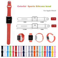 Silicone watch strap for apple watch sport band 42mm wrist bracelet men watch watchband metal bucket clasp for iwatch Series 1 2