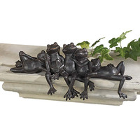 Park Avenue Collection Lazy Daze Knot Of Frogs Sitters