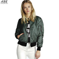 Thin Bomber Jacket Long Sleeve