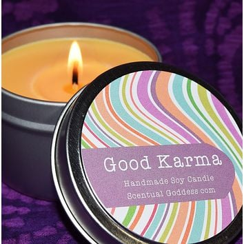 GOOD KARMA Good Vibes Candle - Bring Peaceful Zen Energy In Your Home